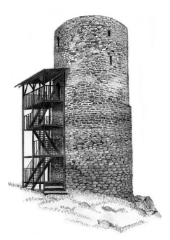 rozhledna Helfenburk – Bergfrit