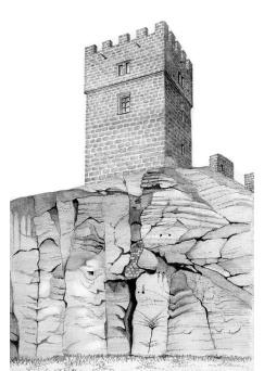 rozhledna Helfenburk – Hrádek