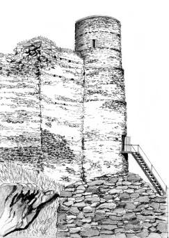 rozhledna Helfenburk Okrouhlá věž